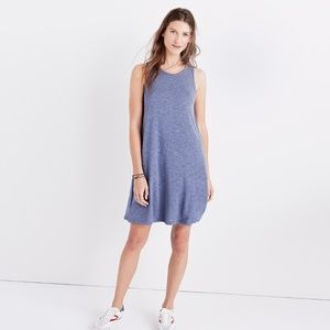 Madewell Highpoint Blue Knit Tank Dress